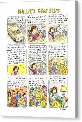 Millie's Gear Slips Canvas Print by Roz Chast