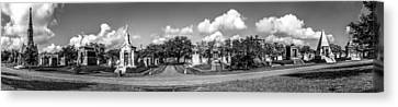Millionaires Row - Metairie Cemetery Canvas Print
