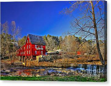 Historic Millmore Mill Shoulder Bone Creek Canvas Print by Reid Callaway
