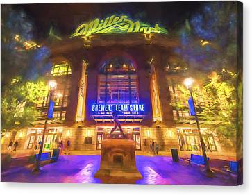 Milwaukee Brewers Miller Park Painted Digitally Canvas Print
