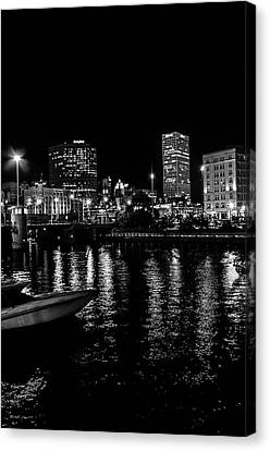 Milwaukee Downtown Third Ward Canvas Print by Susan  McMenamin