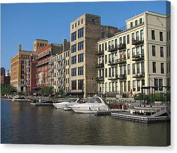 Milwaukee River Architecture 3 Canvas Print