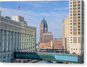 Milwaukee River Corridor Canvas Print by Susan  McMenamin