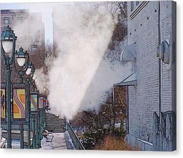 Milwaukee River Walk 1 - Winter 2013 Canvas Print