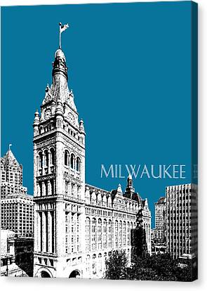 Milwaukee Skyline City Hall - Steel Canvas Print