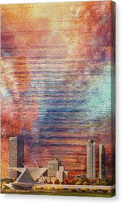 Milwaukee Skyline Canvas Print by Jack Zulli