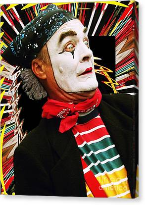 Mime Scared Canvas Print by Margaret Newcomb