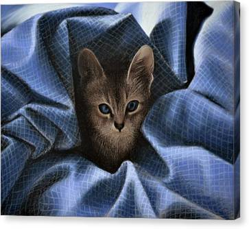 Mimi In The Sheets - Pastel Canvas Print