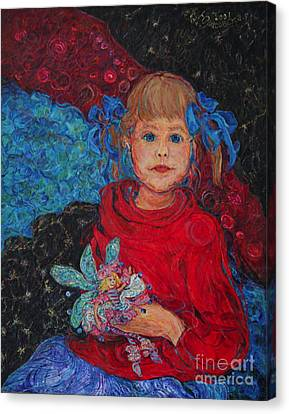 Mimi With Her Thumbelina Doll Canvas Print