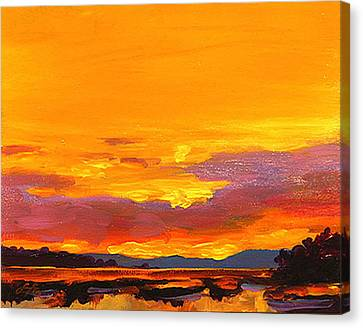 Mimosa Sunrise Canvas Print by Savlen Art
