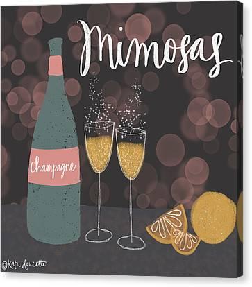 Mimosas Canvas Print by Katie Doucette