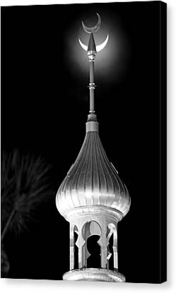 Minaret And Moon Over Tampa Canvas Print