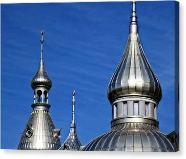 Rooftop Canvas Print - Minarets Of Tampa - Photography By Sharon Cummings by Sharon Cummings