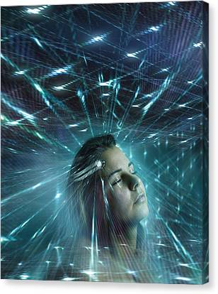 Mind Control, Conceptual Artwork Canvas Print by Science Photo Library