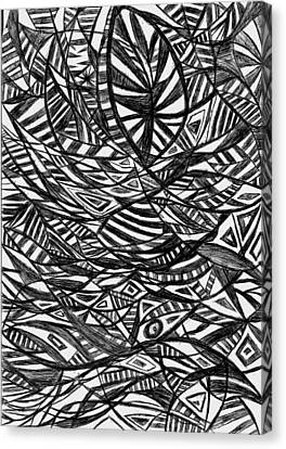 Mind Fishing Canvas Print by Rowan Van Den Akker