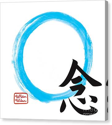Mindfullness-zen Enso Canvas Print by To-Tam Gerwe