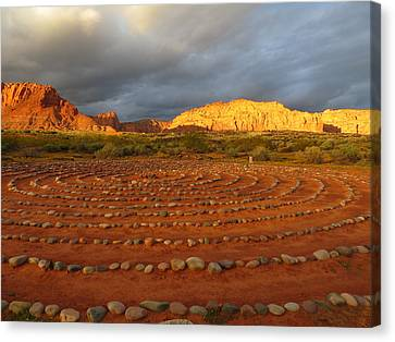 Canvas Print featuring the photograph Mindfulness In St. George Utah by Jean Marie Maggi