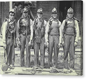 Mine Rescue Team Canvas Print by Retro Images Archive