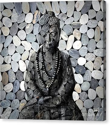 Mineral Buddha Canvas Print by Delphimages Photo Creations