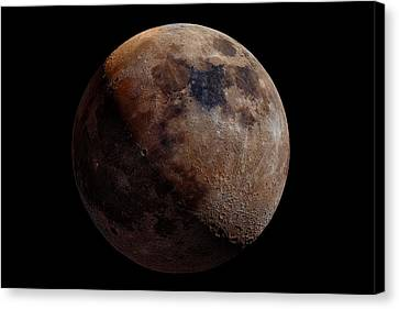 Craters Canvas Print - Mineral Moon by Giancarlo Melis