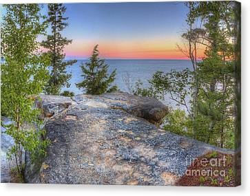National Lakeshore Canvas Print - Miners Castle At Pictured Rocks by Twenty Two North Photography