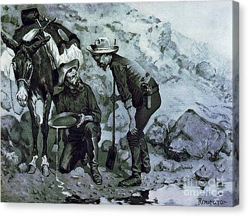 Miners Prospecting Canvas Print by Pg Reproductions