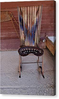Canvas Print featuring the photograph Miner's Rocker by Fran Riley