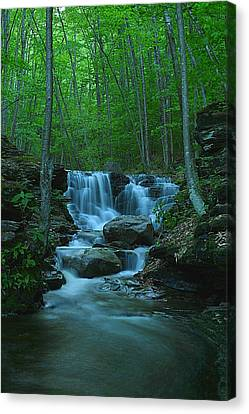 Miners Run Falls #1 - Evening Glow Canvas Print