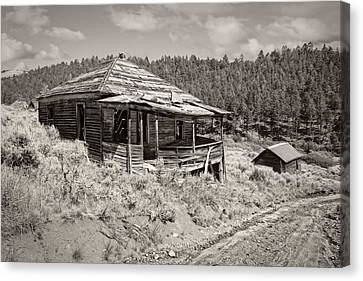 Miner's Shack - Comet Ghost Mine - Montana Canvas Print by Daniel Hagerman