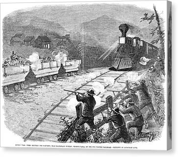 Miners' War, 1874 Canvas Print by Granger