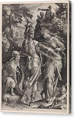 Medusa Canvas Print - Minerva And Mercury Arm Perseus by Jan Harmensz. Muller And Bartholomeus Spranger
