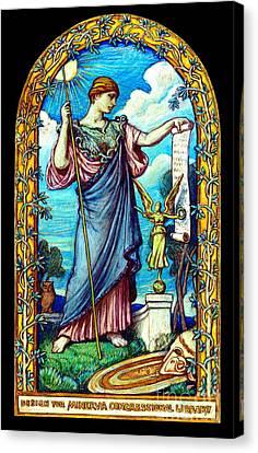 Minerva Mosaic Design 1896 Canvas Print by Padre Art