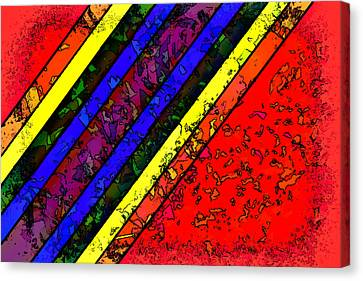 Canvas Print featuring the digital art Mingling Stripes by Bartz Johnson