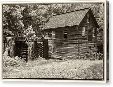 Grist Mill Canvas Print - Mingus Mill Antiqued by Stephen Stookey
