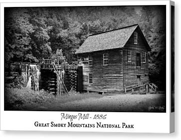Gsmnp Canvas Print - Mingus Mill -- Black And White Poster by Stephen Stookey