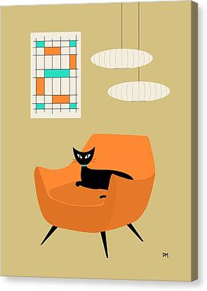 Mini Abstract With Orange Chair Canvas Print