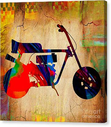 Mini Bike Art Canvas Print
