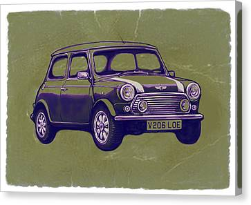 Mini Cooper - Car Art Sketch Poster Canvas Print