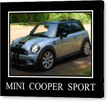 Mini Cooper Sport Canvas Print by Kathy Sampson