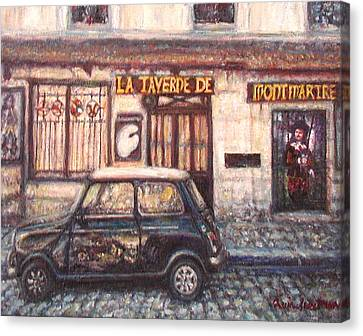 Mini De Montmartre Canvas Print