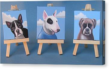 Mini Dog Portraits 2 Canvas Print by Stuart Swartz