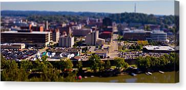 Mini Downtown Parkersburg Canvas Print