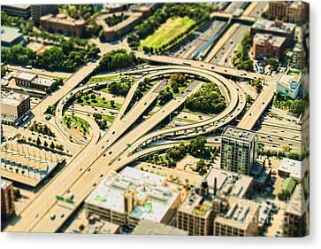 Mini Motorway Canvas Print by Andrew Paranavitana