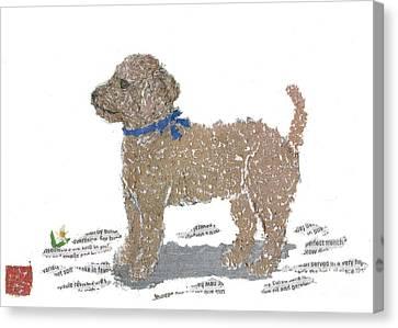 Poodle Art Canvas Print by Keiko Suzuki