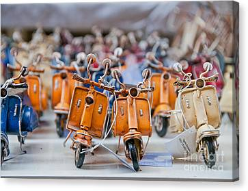 Mini Scooters Canvas Print
