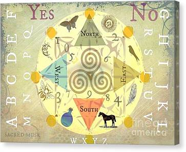 Wiccan Canvas Print - Mini Spirit Board by Sacred  Muse