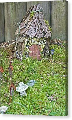 Miniature Fairy Garden Scene Canvas Print