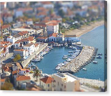 Miniature Port Canvas Print by Vicki Spindler