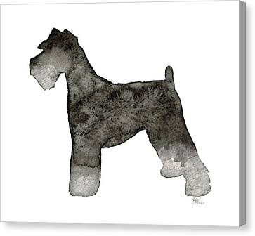 Canvas Print featuring the painting Miniature Schnauzer by Laura Bell