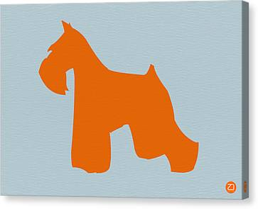 Miniature Schnauzer Orange Canvas Print by Naxart Studio